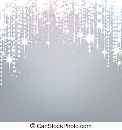 Silver starry christmas background. Vector illustration.