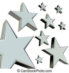 silver, stjärnor
