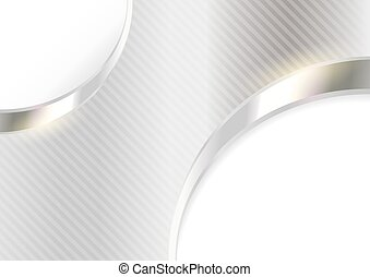 Silver Striped Background
