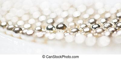 Silver Sugar Pearl Toppings