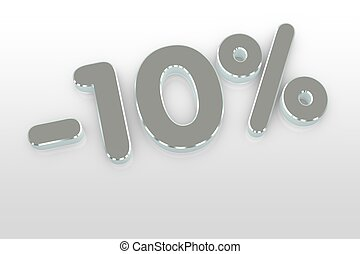 silver ten percent discount symbol