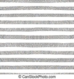 Silver textured seamless pattern of stripes. - Silver...