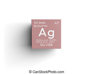 Silver chemical element periodic table science symbol picture silver transition metals chemical element of mendeleevs periodic table urtaz Gallery