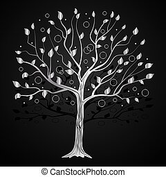 Silver tree with circles