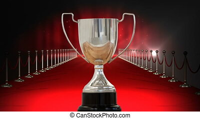 Silver Trophy on red carpet video