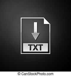 Silver TXT file document icon. Download TXT button icon ...