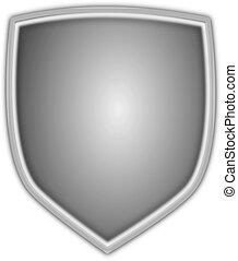 Silver Vector Shield - A silver vector shield.