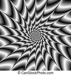 Silver Vortex - A digital abstract fractal image with a ...
