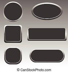 Silver web button set