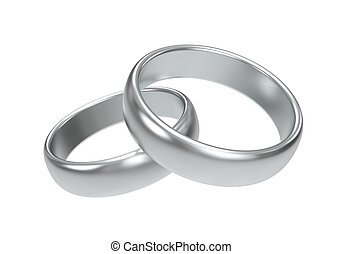 Silver Wedding Rings With Forever Yours Inscription Clip Art