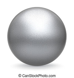 Silver white ball sphere round button basic matted metallic