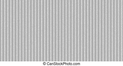 Silver white ribbed metallic surface. Wavy iron wall pattern. Fluted metal fencing backdrop. Corrugated metal texture. Crimp fence background.
