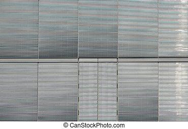 Silver window shutters