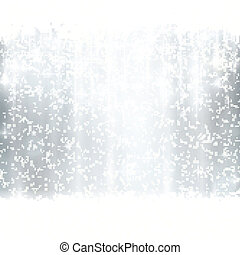 Silver winter, Christmas background with light effects