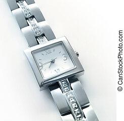 Silver wrist watch - Elegant women's luxury silver wrist...