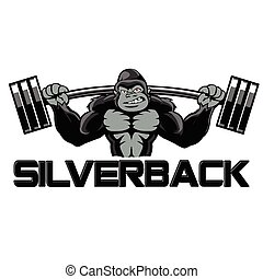 silverback goryl, silny