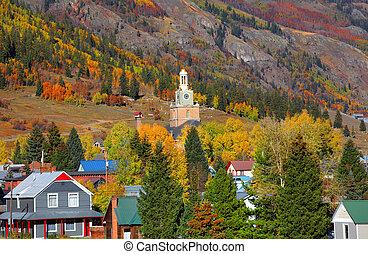 Silverton Cityscape - Scenic Silverton cityscape in autumn...