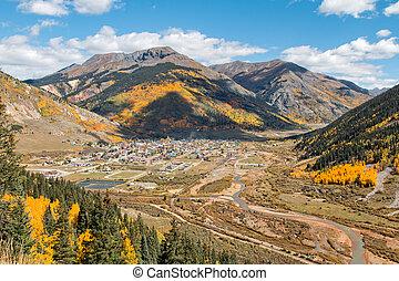 Silverton Colorado in Fall - the scenic mountain landscape...