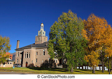Silverton Court house in autumn time
