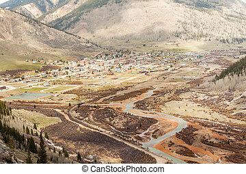 Silverton Panorama, Colorado, USA - Panorama of mountainous...
