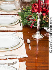 Silverware on Formal Table