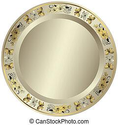 Silvery frame