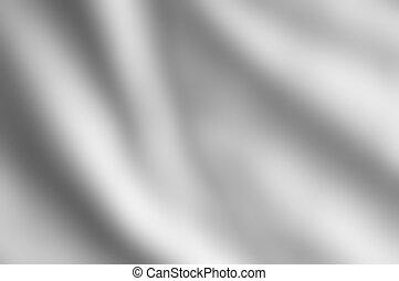 Shiny draping satin fabric in silvery grey hue.