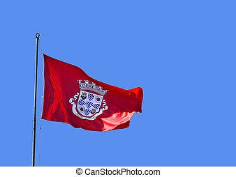 silves, de, cidade, bandera