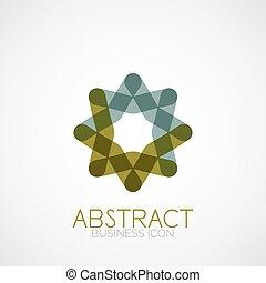 simétrico, abstratos, forma geométrica