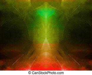 simétrico, arte abstracto