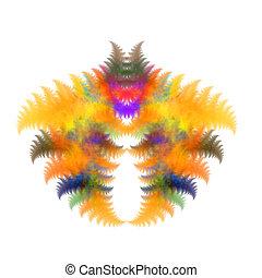 simétrico, colores, plano de fondo, resumen, fractal, otoñal