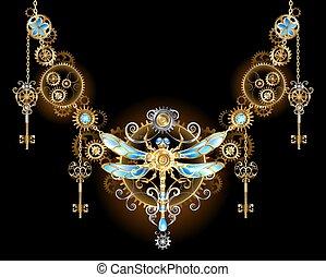 simétrico, libélula, ornamento