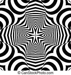 simétrico, monocromático, desenho, padrão