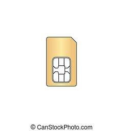 Sim card computer symbol