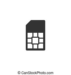 SIM card icon flat