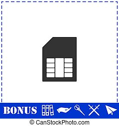 SIM card icon flat