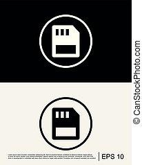 Sim card Icon Template
