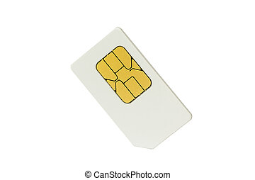 Sim card isolated on white with clipping path