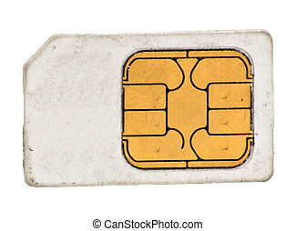 Sim card on a white background