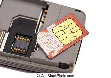 SIM card on smart phone