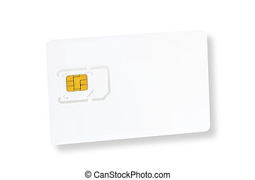 Sim Card - White sim card isolated on white background