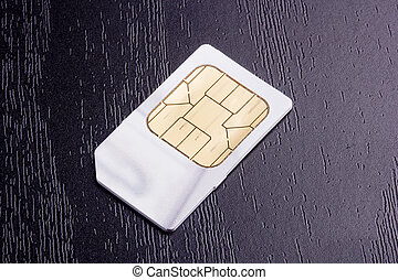 SIM card - Sim card for mobile communication. Electronic...