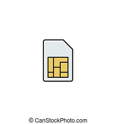 sim card vector icon concept, isolated on white background