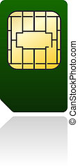 Sim card. Vector illustration.