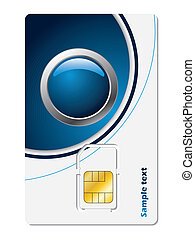 Sim card with abstract design