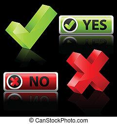 sim, e, não, botão