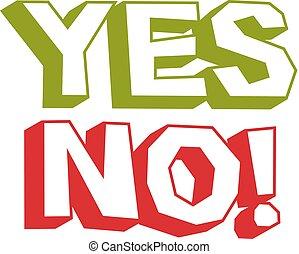sim, não, checkmark., vetorial, votando, sinal, escolha, metáfora, isolado, branco, isolado, ligado, white.