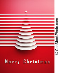 simbólico, 3d, árbol de navidad