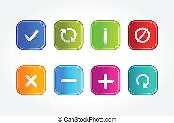simbólico, botões