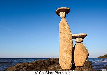 simbólico, estatuetas